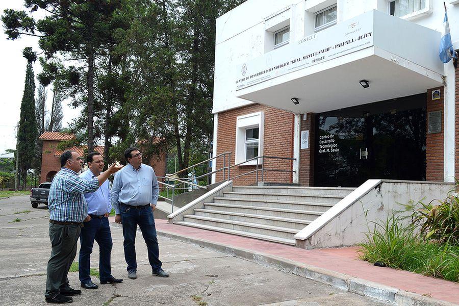 Snopek y Echavarri visitaron el Centro de Desarrollo Tecnológico